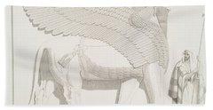 A Winged Human-headed Lion From Nimroud Beach Towel