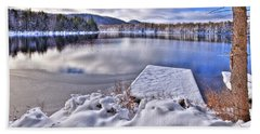 Beach Towel featuring the photograph A Winter Day On West Lake by David Patterson