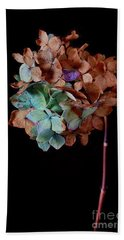 Winter Hydrangea Beach Towel