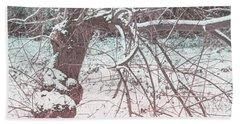A Winter Tree Beach Sheet