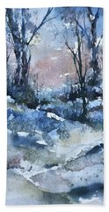 A Winter's Eve Beach Towel by Robin Miller-Bookhout