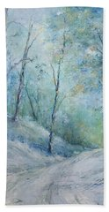 A Winter's Walk Beach Towel by Robin Miller-Bookhout