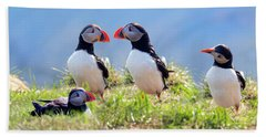 A World Of Puffins Beach Towel