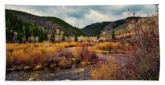 A Wyoming Autumn Day Beach Towel by L O C