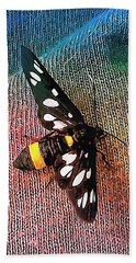 A Yellow Belted Burnet Beach Towel
