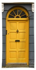 A Yellow Door In Ireland Beach Towel