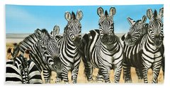 A Zeal Of Zebras Beach Towel