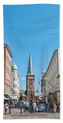 Beach Towel featuring the photograph Aarhus Street Scene by Antony McAulay