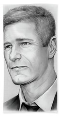 Aaron Eckhart Beach Towel
