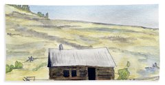 Abandon Ranch House Beach Towel by R Kyllo