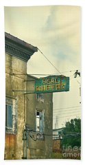Beach Towel featuring the photograph Abandoned Building by Jill Battaglia