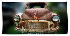 Beach Towel featuring the photograph Abandoned Car by Charuhas Images