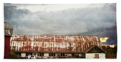 Abandoned Dairy Farm Beach Towel by Judy Wolinsky