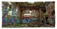 Beach Towel featuring the photograph Abandoned Factory Newport New Hampshire by Edward Fielding