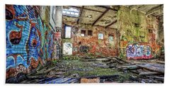 Beach Towel featuring the photograph Abandoned Hartford Woolen Mill Newport New Hampshire by Edward Fielding