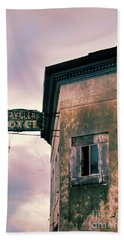 Abandoned Hotel Beach Sheet by Jill Battaglia