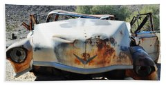 Beach Sheet featuring the photograph Abandoned Mojave Auto by Kyle Hanson