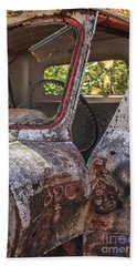 Beach Towel featuring the photograph Abandoned Old Truck Newport New Hampshire by Edward Fielding