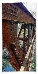 Abandoned Steel Bridge Nashville Indiana Beach Towel