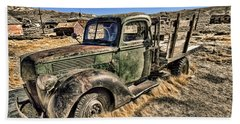 Abandoned Truck Beach Towel by Jason Abando