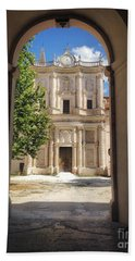 Abbey Of The Holy Spirit At Morrone In Sulmona, Italy Beach Towel