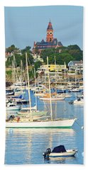 Abbot Hall Over Marblehead Harbor From Chandler Hovey Park Beach Towel