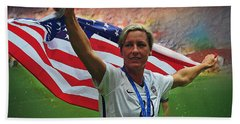 Abby Wambach Us Soccer Beach Towel