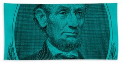 Beach Towel featuring the photograph Abe On The 5 Aqua Blue by Rob Hans