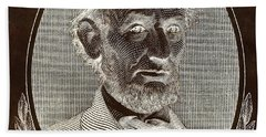 Beach Towel featuring the photograph Abe On The 5 B W Inverted Brown by Rob Hans