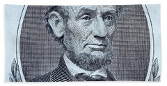 Beach Towel featuring the photograph Abe On The 5 Cyan by Rob Hans