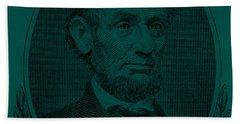 Beach Towel featuring the photograph Abe On The 5 Greenishblue by Rob Hans