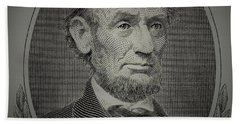 Beach Towel featuring the photograph Abe On The 5 Grey by Rob Hans