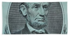 Beach Towel featuring the photograph Abe On The 5 Lite Blue by Rob Hans