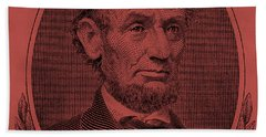 Beach Towel featuring the photograph Abe On The 5 Peach by Rob Hans