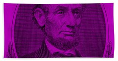 Beach Towel featuring the photograph Abe On The 5 Purple by Rob Hans