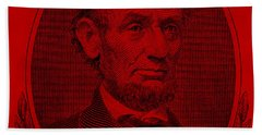 Beach Towel featuring the photograph Abe On The 5 Red by Rob Hans