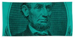 Beach Towel featuring the photograph Abe On The 5 Turquoise by Rob Hans