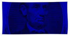 Beach Towel featuring the photograph Abe On The 5 Violet by Rob Hans