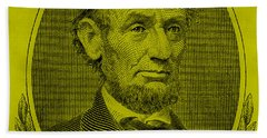 Beach Towel featuring the photograph Abe On The 5 Yellow by Rob Hans