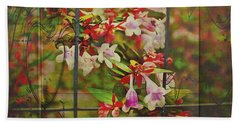 Abelia Coming Through Beach Towel