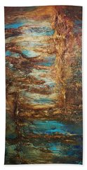 Beach Towel featuring the painting Lagoon by Patricia Lintner