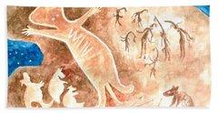 Aboriginal  Beach Sheet by Andrew Gillette