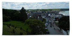 Above Arromanches-les-bains Beach Towel