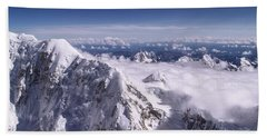 Above Denali Beach Towel