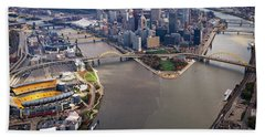 Above Pittsburgh In  Color  Beach Towel