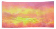 Above The Clouds - Abstract Art Beach Sheet by Jaison Cianelli