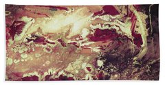 Above The Clouds - Contemporary Earth Tone Abstract Painting Beach Sheet