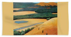 Above The Highway Beach Towel