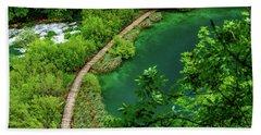 Above The Paths At Plitvice Lakes National Park, Croatia Beach Sheet