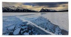 Abraham Lake Ice Bubbles Beach Sheet